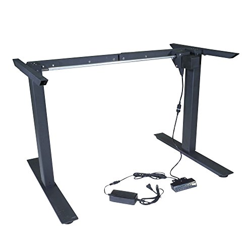 Titan Single Motor Electric Adjustable Base Height Sit-Stand Standing Desk Frame 46'' H 63'' W Programmable Buttons by Titan Fitness