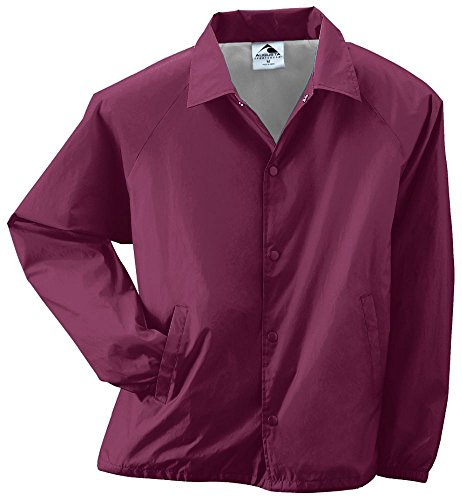 Augusta Sportswear Augusta Youth Nylon Coaches Jacket, Maroon, Large