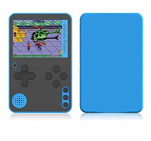 미니 FC 카드 휴대용 향수 POCKET 게임 콘솔 소형 게임 콘솔 소형 게임 CONSOLECONSOLE BUILT-IN500 고전 8 2.4 비트 화면(블루)