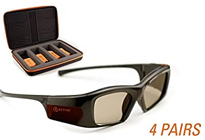 SAMSUNG-Compatible 3ACTIVE 3D Glasses. Rechargeable. FOUR-PACK