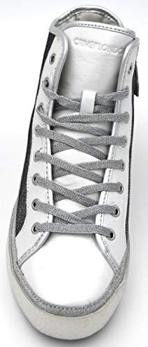 25347ks1 Silver White Argento Tempo Stars Scarpa Bianco Crime 22 Sneaker Euphoria Art Donna Casual Libero U6qO0qw
