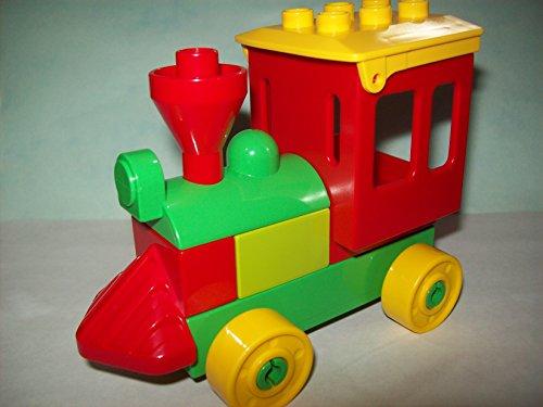 Lego Duplo bunter lustiger Schiebezug Zug Lok Eisenbahn