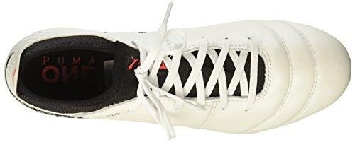 Puma Mens One 17.2 Fg Scarpe Da Calcio Puma Bianco-puma Nero-ignifugo Corallo