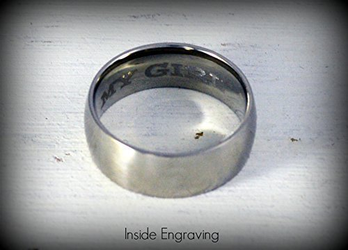 Personalized Mothers Ring Brushed or Polished Finish 8mm Width