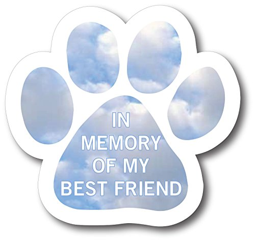 Magnet Me Up in Memory of My Best Friend Pawprint Car Magnet Paw Print Auto Truck Decal Magnet