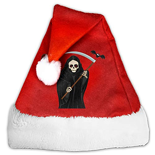 PQFLICS 1pc Mini Grim Reaper Halloween Santa Hat Cup Bottles Cover Home Christmas Decor