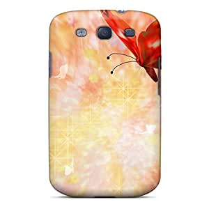 Faddish Phone Butterflies Bubbles Case For Galaxy S3 / Perfect Case Cover