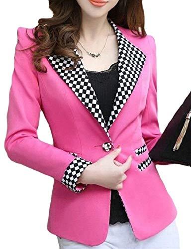Bavero Qualit Donna Alta Lunga Anteriori Chic Slim Fit Di Tailleur Diamante Camicia Tasche Giaccone Button Manica Autunno zaUwZdx8