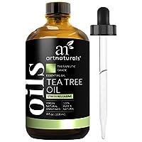 ArtNaturals Aceite esencial de árbol de té 100% puro - (4 fl oz /120 ml) - Grado terapéutico de calidad natural Melaleuca - Excelente con jabón y champú, lavado de cara y cuerpo - Tratamiento antifúngico para el acné, piojos