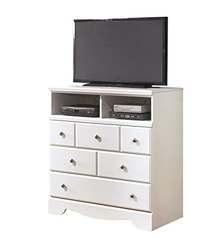 Ashley Weeki Media Chest In White by Ashley Furniture