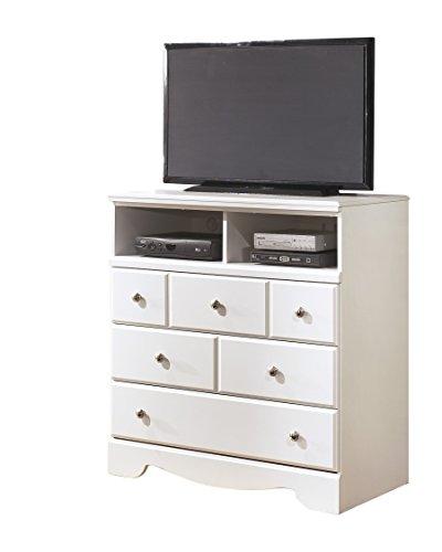 Ashley Weeki Media Chest In White by Ashley Furniture