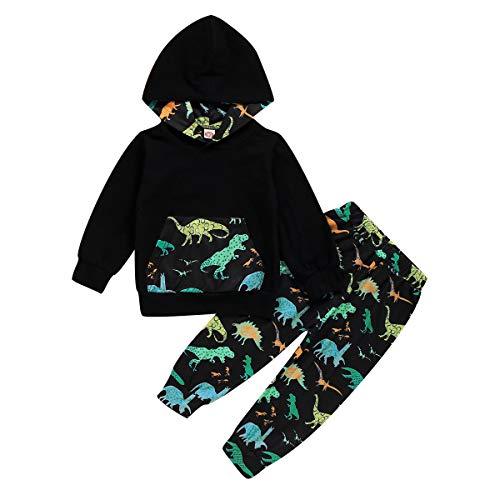 Borlai 2 STKS Kids Jongen Dinosaurus Kleding Set Peuter Katoen Hooded Shirt Broek Outfits 1-7Y