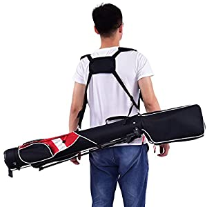 "TANGKULA 5"" Golf Bag Club 7 Dividers Lightweight Carry Bag Golf Stand Bag"