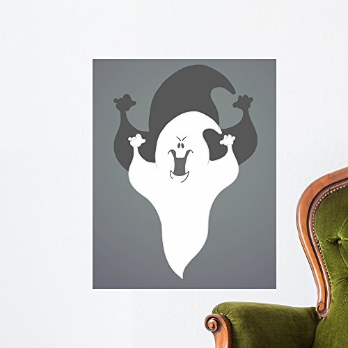 Wallmonkeys Abstract Halloween with Ghost Wall Mural Peel and Stick Vinyl Graphic (24 in H x 19 in W) WM363045 ()