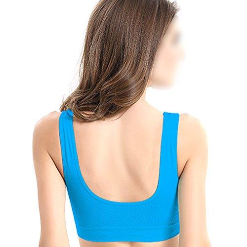 Zhuhaixmy Damen Sport BH Übergröße Doppelschicht ohne Bügel Hohe Wirkung Fitness Workout Yoga Gym Running Tops Active Wear ToCYT6eDN