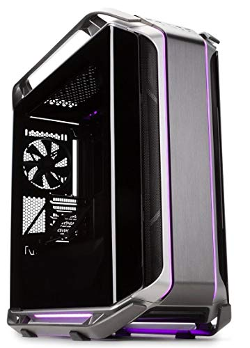 Cooler Master Cosmos C700M with ARGB Lighting, Aluminum Panels, a Riser Cable, and Curved Tempered Glass, C700M Full Tower
