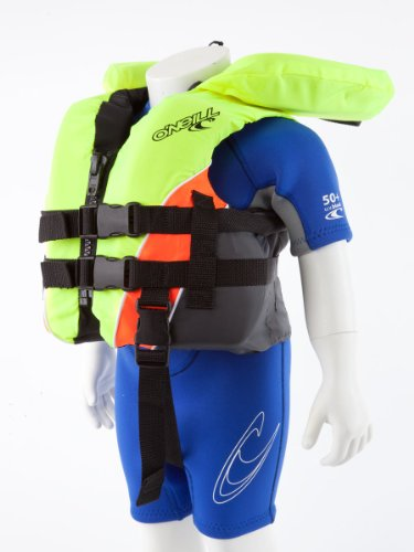 (O'Neill Superlite USCG Nylon Infant Life Vest Neon Yellow/neon Orange/Coal)