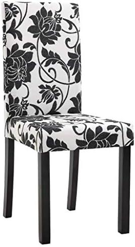 vidaXL 6X Chaises de Salle à Manger Chaises à Dîner Chaises de Repas Chaises de Salon Chaises de Cuisine Maison Intérieur Noir Polyester