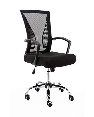 Modern Home Zuna Mid-Back Office Chair – Black/Black
