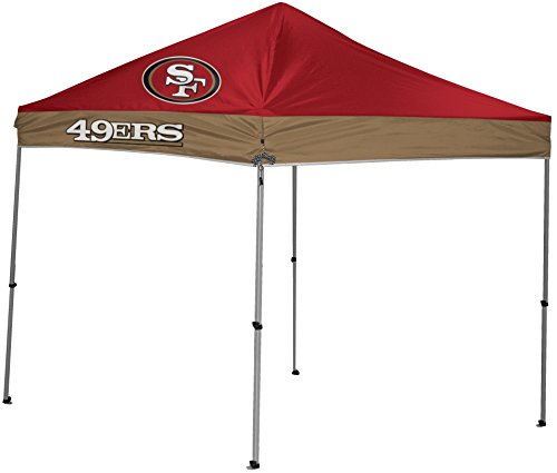 NFL Instant Pop-Up Canopy Tent with Carrying Case, 9x9, San Francisco 49ers
