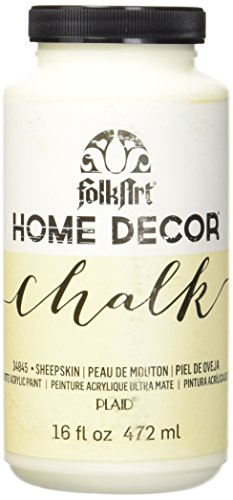 FolkArt 34845 Home Decor Chalk Furniture & Craft Paint in Assorted Colors, 16 ounce, Sheepskin