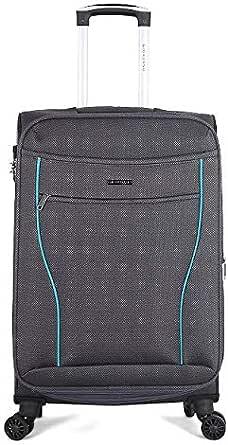 Giordano Softside Spinner Trolley Bag for Unisex, Grey, 28 Inch