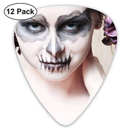 Custom Guitar Picks, Halloween-Zombie Bride Makeup Girl Guitar Pick,Jewelry Gift For Guitar Lover,12 -