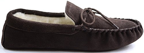 Marrone Mocassini Suede Marrone SNUGRUGS Wool Lined Soft Sole Uomo ZnTgA