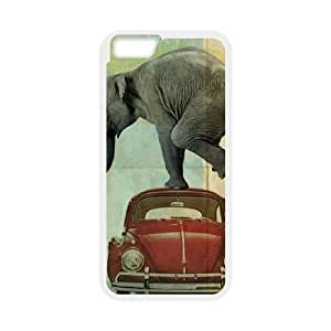 iPhone 6 4.7 Inch Cell Phone Case White Looking for Tiny elephant on a red VW beetle Cwgzn