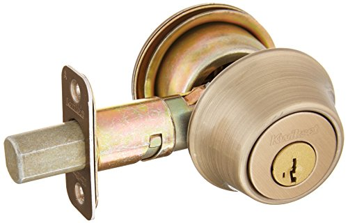 Kwikset 660 Single Cylinder Deadbolt featuring SmartKey in Antique Brass