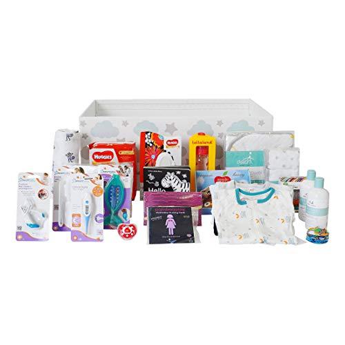 (Finnbin Baby Box Bassinet Bundle: Finland LITE | Safe & Portable Sleeper and Starter Kit for Your Newborn Infant Boy or Girl)