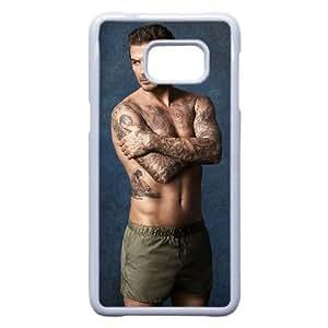 David Beckham_002 TPU Case Cover for Samsung Galaxy S6 Edge Plus Cell Phone Case White