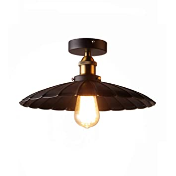 E27 Loft Lámpara de techo industrial, Vendimia Lámpara de ...