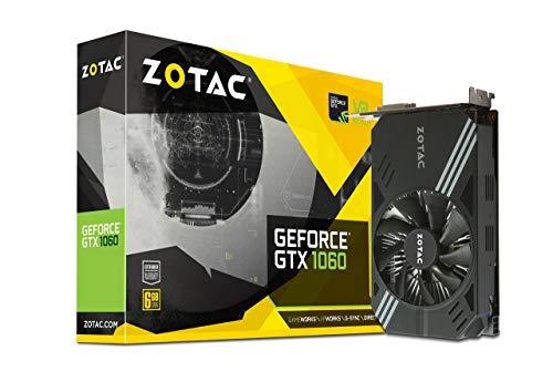 ZOTAC GeForce GTX 1060 Mini, ZT-P10600A-10L, 6GB GDDR5 VR Ready Super Compact Gaming Graphics Card (Renewed)