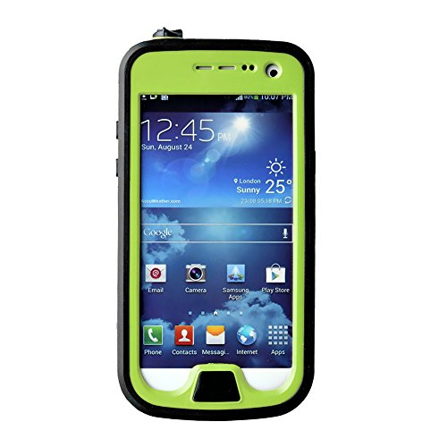 FAVOLCANO® Redpepper Small Dots Series - Waterproof Shockproof Snowproof Dirtproof Dustproof Durable Protective Case for Samsung Galaxy S4 Mini (Jelly Green) (S4 Mini Samsung Case compare prices)