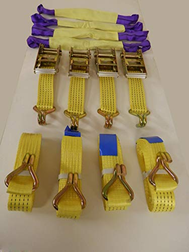 XuBa Recovery Equipment Heavy Duty Ratchet Straps 50mm Width 4mts Length 5000kg Rating