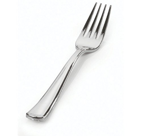 Price comparison product image Stock Your Home Silver Disposable Forks 25 / pk