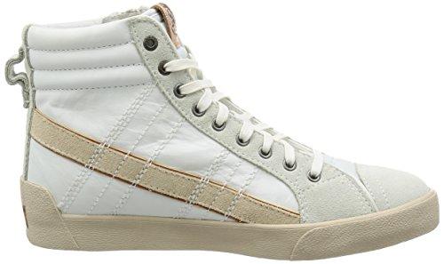 Diesel Herren D-Velows D-String Plus Mid Hohe Sneaker, White Ice, 38 1/2 EU M US Männer White Ice