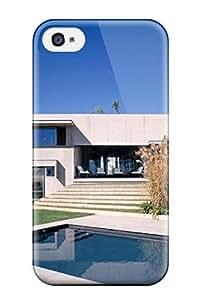 Excellent Design Architecture Houses Phone Case For Iphone 4/4s Premium Tpu Case