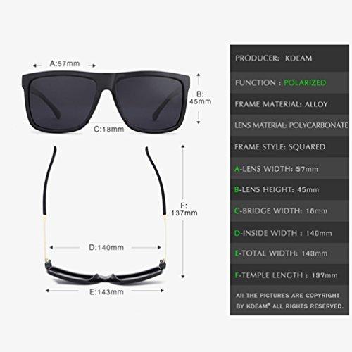 de Lunettes Square Polarisées Sunglasses de Lunettes Style Lvguang Homme Casual Soleil de 1 Conduite Lunettes Sport USw1xdx
