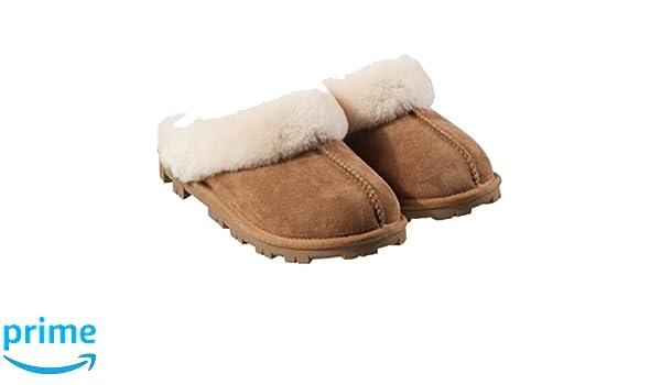 Kirkland Signature - Zapatillas de estar por casa para mujer marrón marrón