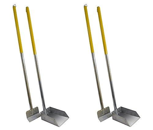 Flexrake Standard Poop Pet Scoop/Spade with 3-Feet Aluminum Handle (2 Sets) by Flexrake