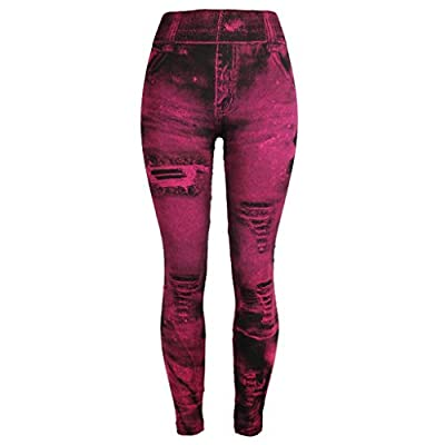 RAINED-Women's Jeans Bottom Pants Coloured Hip-up Super Bomb Slim Nine-Minute Pants Skinny Slim Camo Pants