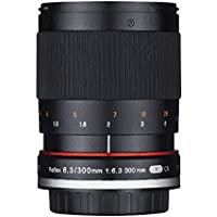 Rokinon 300M-FX-BK 300mm F6.3 Mirror Lens for Fuji X Mirrorless Interchangeable Lens Cameras