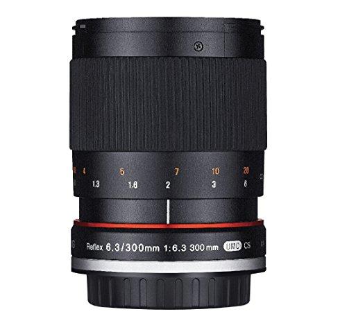 Rokinon 300M-E-BK 300mm F6.3 Mirror Lens for Sony NEX Mirrorless Interchangeable Lens Cameras - E-Mount