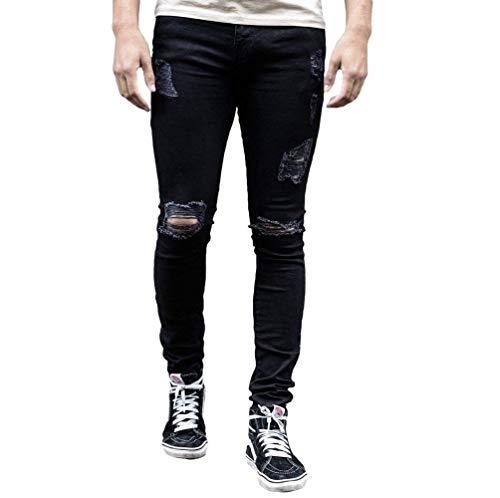 Lannister Fashion Pantalones De Mezclilla Apretados Outer Tret De Otoño Skinny Invierno para Hombres Pantalones De Mezclilla Desgarrados Pantalones Vaqueros Rasgados De Tlich Vintage Alsbild2