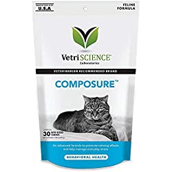 Composure Chews Calming Support Formula for Cats (30ct) Packaging May Vary.