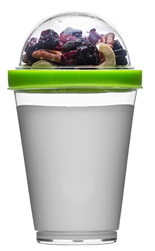 Breakfast To Go Pot Handy Yogurt Pot Cereal Compartment Healthy Snack Fruit Tub
