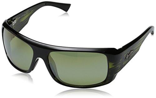 Maui Jim Five Caves Sunglasses, Olive Stripe/Maui HT, One - Com Jim Maui