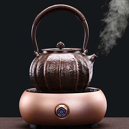 ZOUJUN Copper Pot Kettle Home Copper Pot Kettle Manual Tea Maker Electric Kettle With Fast Heating Boil Dry Protection Automatic Shut-Off (Color : A)